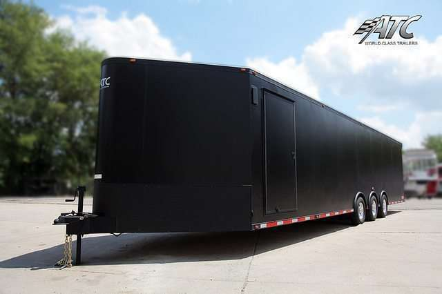 Car Hauler - Matt Black Bumper Pull Race Trailer