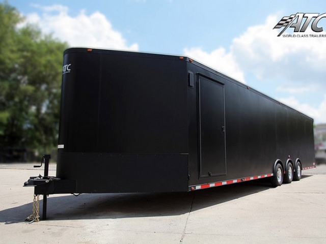 Custom Trailer, Car Hauler & Sport, Bumper Pull Race, Matte Black
