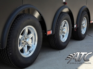 Custom Trailer, Car Hauler & Sport, Bumper Pull Race, Matte Black