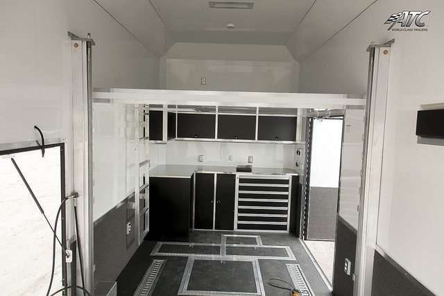 Matte Black Custom Cabinets Stacker Trailer