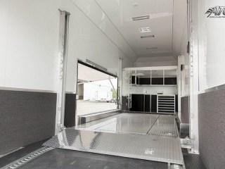 Custom Trailers, Car Hauler, Sport, Stacker, Matte, Black, Custom Cabinets