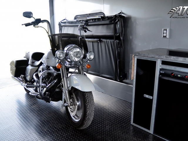 Custom Trailers, Car Hauler, Sport, Motorcycle, Matte, Black