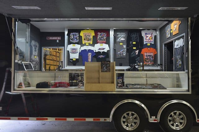 Custom Trailers, Mobile Marketing, Merchandise, Display, Sale