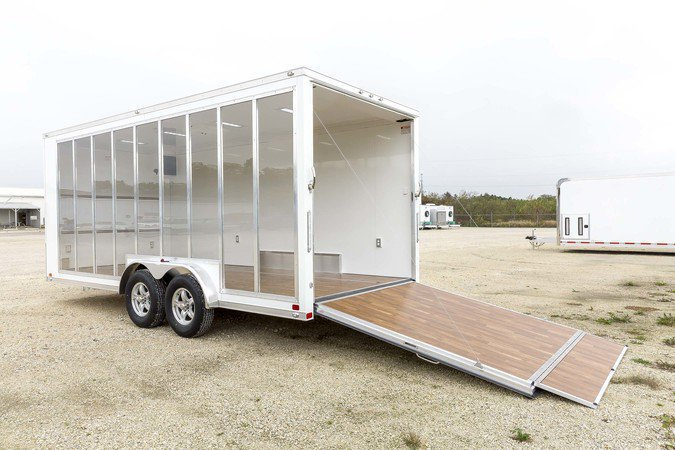 Display Trailer w/ Hardwood Vinyl Flooring