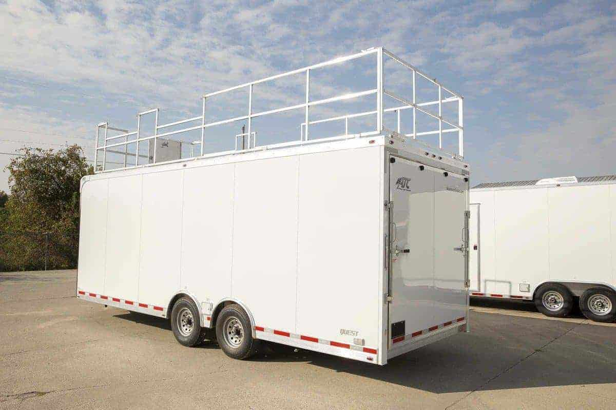 Mobile Office, Classroom Trailer, with Folding Desks, Custom Trailer, MO Great Dane, ATC