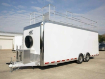 Mobile Office, Classroom Trailer, with Folding Desks, Custom Trailer, MO Great Dane, ATC