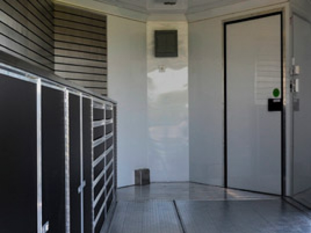 Custom Trailers, Mobile, Showroom, Stage, Display, Merchandising, Slat Walls