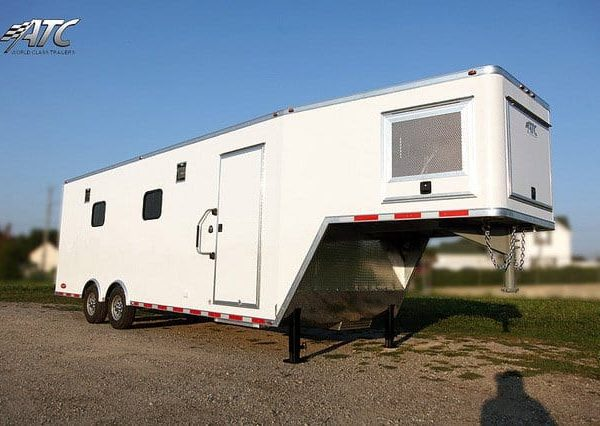 Gooseneck Trailers - Mobile Workshop Aluminum Gooseneck Cargo Trailer