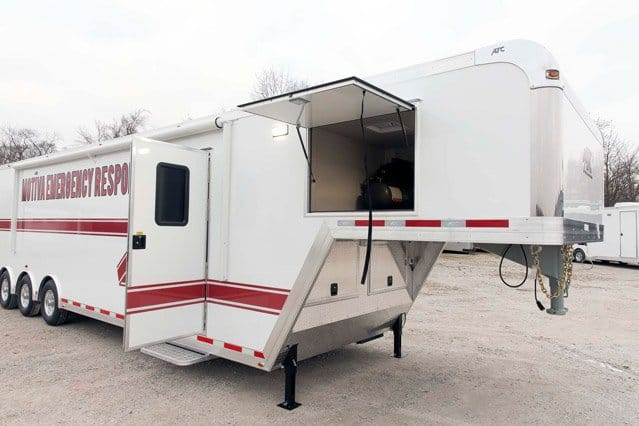Custom Trailers, Emergency Management, Response, Motiva Gooseneck