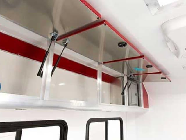 Overhead Cabinet Radius Edge Gas Shock, Storage, Custom Trailer Options