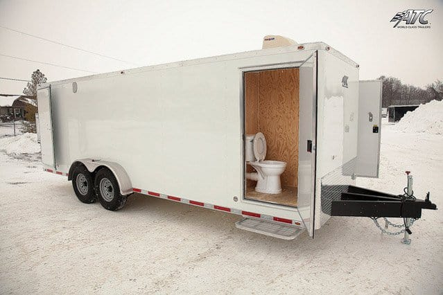Custom Trailers, Oil, Gas, Oilfield, Cold, Weather, Bathroom