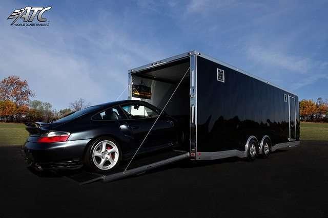 Car Hauler - Porche Bumper Pull Race Trailer