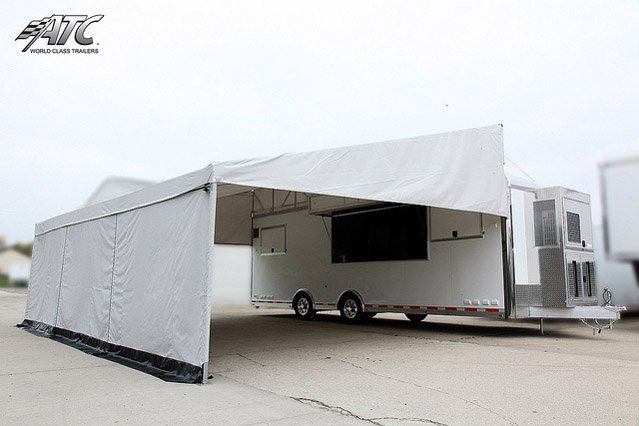 Custom Trailers, Mobile, Marketing, Product, Display, Arrow, Tent, Awning