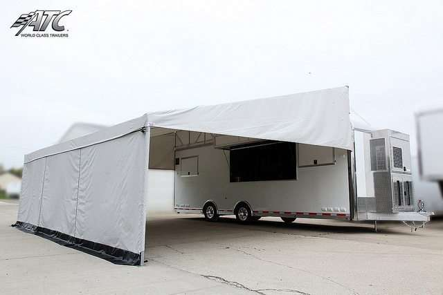 Product Display Trailer Arrow Tent Awning