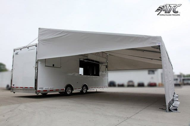 Product Display Trailer Arrow Tent Awning Mo Great Dane