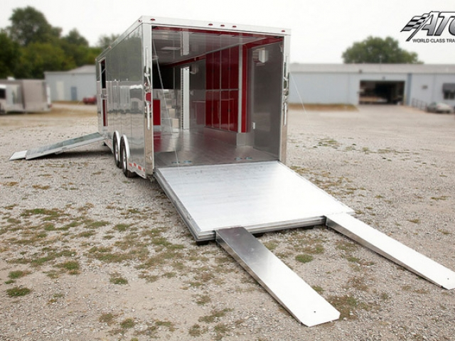 Custom Trailers, Car Hauler, Sport, Gooseneck Race, Quest Aluminum