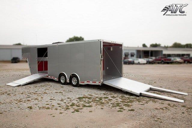 Custom Trailers, Car Hauler, Sport, Gooseneck Race, Quest Aluminum