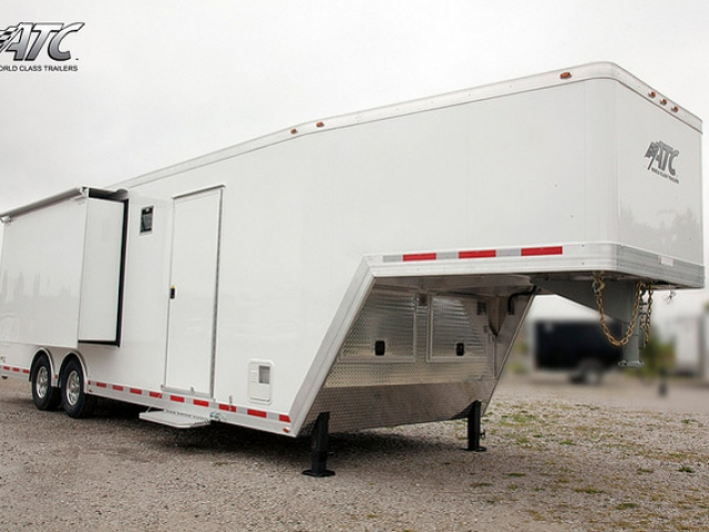 Custom Trailers, Car Hauler, Sport, Race, with Living Quarters, Slideouts