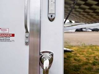 Ramp Door Paddle Latches, Door Accessories, Custom Trailer Options