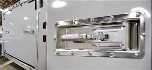 Ramp Door Recessed Paddle Latches, Door Accessories, Custom Trailer Options