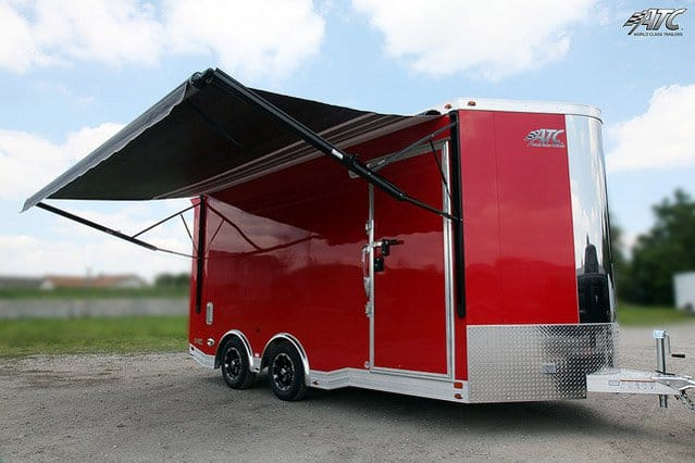 Custom Trailers, Car Hauler, Sport, Motorcycle, Red, ATC, Custom Motorcycle