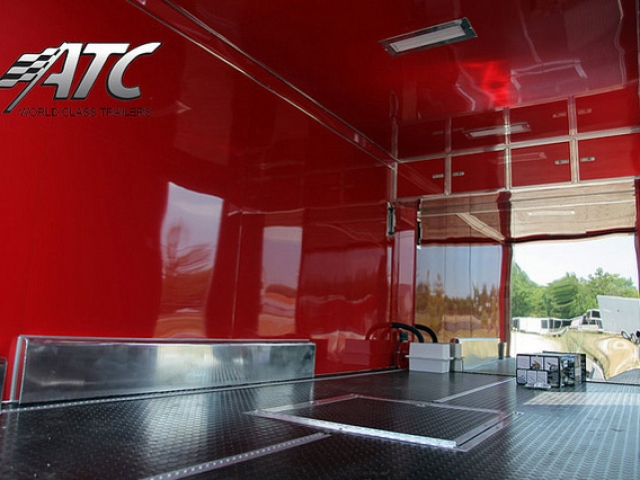 Custom Trailers, Car Hauler, Sport, Motorcycle, Red, Interior, ATC