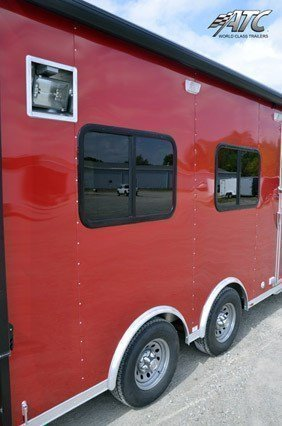 Custom Trailers, Office, Classroom, Red