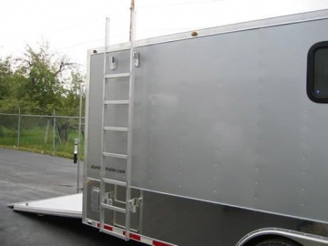 Removable Exterior Ladder, Roof and Ladder, Custom Trailer, Options