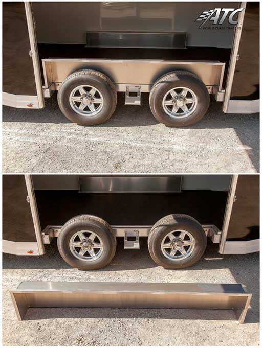 Removable Fender Tandem Axle, Custom Trailer Options