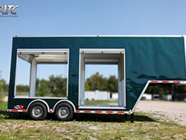 Custom Trailers, Gooseneck, Roll Up, Door