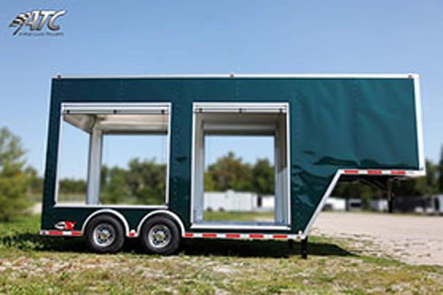 Roll Up Door Gooseneck Trailer