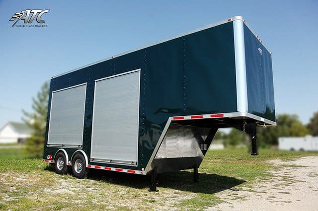 Custom Trailers, Mobile, Marketing, Roll, door, product