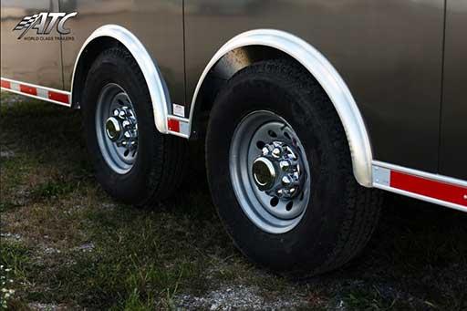 Spread Axles ATC Standard, Tires, Custom Trailer Options