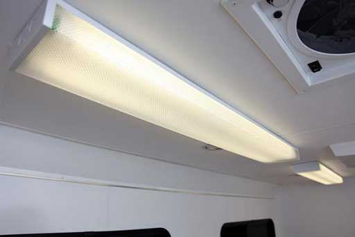 Surface Mount Fluorescent Light, Voltage, Custom Trailer Options