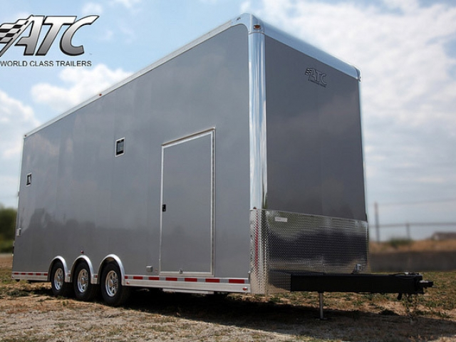 Custom Trailers, Car Hauler, Sport, Stacker, Silver 28ft ATC