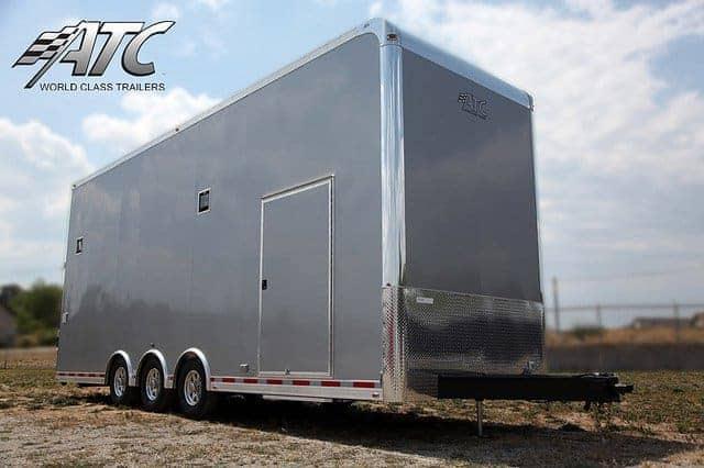 Custom Trailers, Car Hauler, Sport, Stacker, Silver 28ft ATC