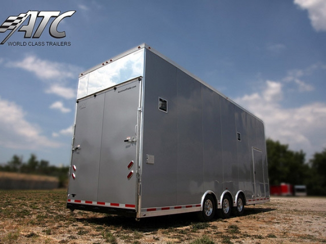 Custom Trailers, Car Hauler, Sport, Stacker, Silver, Bumper