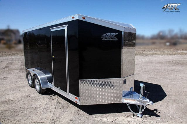 Car Hauler & Sports - Motorcycle Trailers - Slant Nose ATC Motorcycle Trailer