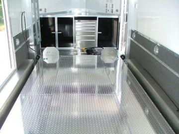 Stacker Full Floor Lift, Removable Center, Stacker, Custom Trailer, Options