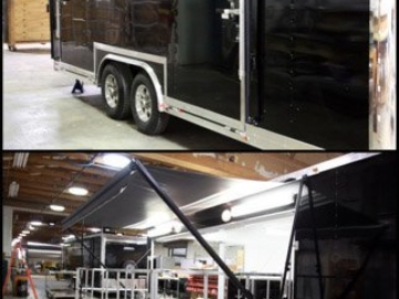Stage Door Awning, Stage Options, Marketing Options, Custom Trailer, Options