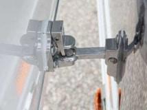 Stainless Door Holdback, Door Accessories, Custom Trailer Options
