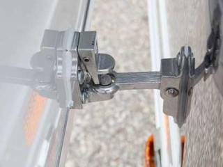 Stainless Door Holdback, Door Accessories, Custom Trailer Options