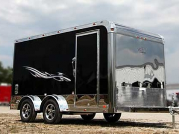 Stainless Steel Front Wall, Exterior, Custom Trailer Options