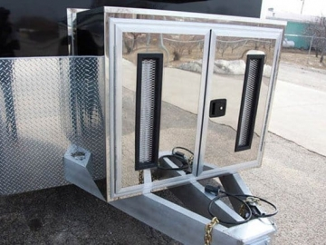 Stainless Storage Compartment, Jack and Tongue, Options, Custom Trailer