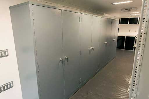 Steel Storage Cabinets, Cabinets, Storage, Custom Trailer Options