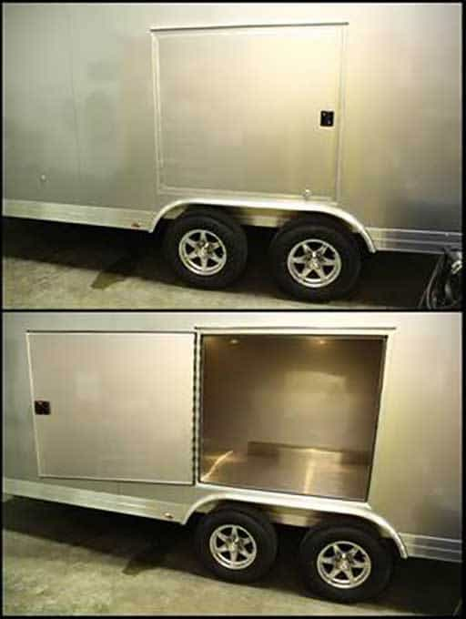 Swing Escape Door, Custom Trailer Options