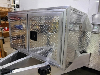 Tread Plate Storage Compartment, Jack and Tongue, Options, Custom Trailer