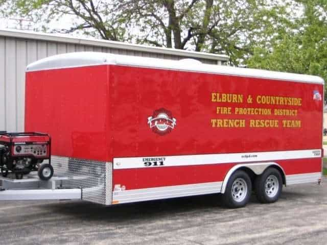 Trench Rescue Trailer