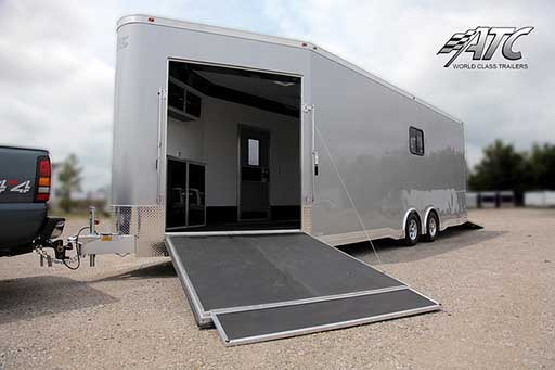 V-Nose Ramp Door, Custom Trailer Options
