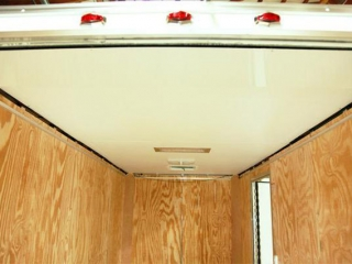 White Vinyl Ceiling, Interior, Walls, Ceiling, Custom Trailer, Options